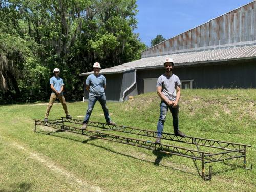 Students with Steel Bridge